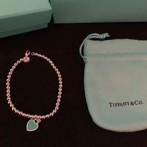 Tiffany & Co mini heart ball bead bracelet